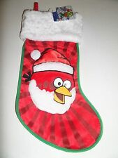 Christmas Holiday Stocking Angry Birds Red White