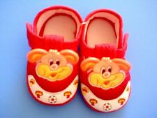 New infant/Baby soft crib doggy shoes, red, 6-9 months
