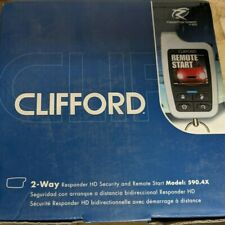 Clifford 590.4 Car Remote Start & Alarm 1 Mile Range Color Oled 2-Way Remote New