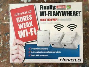 devolo dLAN 500 WiFi Powerline Adapter Kit - Triple Pack