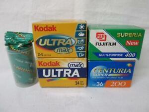 5 x KODAK ISO800, ISO400 & ISO200 36 & 24 EXP FILM, EXPIRED unused old stock