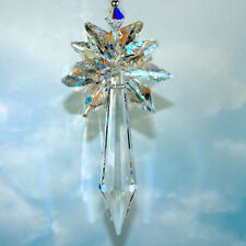 m/w Swarovski and 63mm Fine Crystal Faceted Icicle Pendulum SunCatcher Ornament