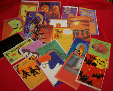Lot 35 Assorted Halloween Greeting Cards All General & Envelopes New