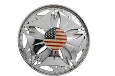 Spinning Usa Flag United States America Men Women Silver Metal Belt Buckle Round