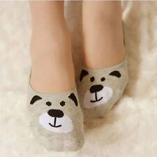 Womens Girls Cute Animal Print Invisible Socks Footsies Shoe Liners Ballerina