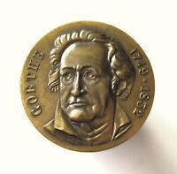 German Medal Commemorate Johann Wolfgang von Goethe 1749-1832 Germany medaille