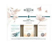 Lampe Berger Fragrance Oil Trio Pack Aroma Happy, Energy, Relax - Free Shipping