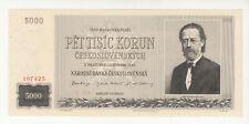 Czechoslovakia 5000 korun 1945 AUNC p75 @low start