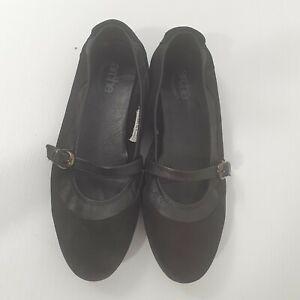 Arche Mary Jane Ballet Flat Black Suede Sz EU 39