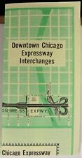 1962 Chicago Illinois Expressways vintage road map info brochure US 90 94 294 b