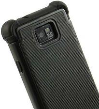 NEW RUGGED BLACK SOFT SKIN HARD CASE FOR AT&T SAMSUNG GALAXY-S II 4G i777 i9100