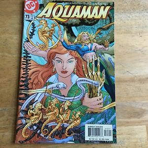 2000 DC COMIC BOOK AQUAMAN 73 POWER GAME OUR SUPER HERO ENTERS 21ST CENTURY NOW