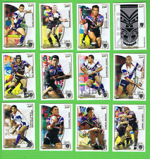 2002  NEW ZEALAND WARRIORS  SELECT NRL CHALLENGE RUGBY LEAGUE CARDS