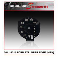 2011 - 2015 Ford Explorer & Edge Speedometer Faceplate (MPH) (L)