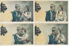 4 CPA PK AK RUSSIE RUSLAND LE MOSCOVITE AMOUREUX AVANT 1905