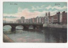 River Liffey Dublin Ireland Vintage Postcard 304a