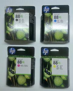 4 x Original HP 88XL schwarz cyan gelb magenta Officejet PRO L 7555 7550 -- o.V.