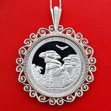 2016 Illinois Shawnee National Forest 90% Silver Coin Sterling Silver Necklace