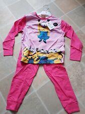 Fab Despicable Me Minion Girls Pink Pyjamas 4-5 Debenhams BNWT RRP £16