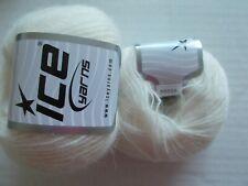 Ice Yarns Luxury Premium alpaca blend yarn, cream, lot of 2 (250 yds ea)