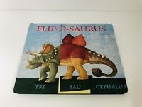 FLIP-O-SAURUS by Sara Ball Interactive Dinosaur Book Fliposaurus