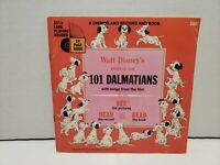 Walt Disney Story 101 Dalmatians Read Along Book And Record #305 1965 33 1/3 RPM