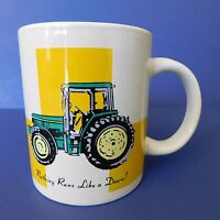John Deere Coffee Cup 10 oz Tractors Gibson Mug Green Yellow White Oven Safe