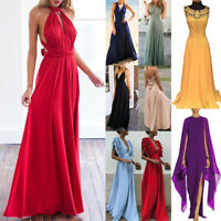 UK Women Formal Long Elegant Ball Gown Party Prom Cocktail Wedding Evening Dress
