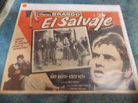 THE WILD ONE(1953)MARLON BRANDO LEE MARVIN ORIGINAL MEXICAN LOBBY CARD