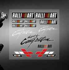 PVC TECH CAR DECAL STICKERS AUTO BADGE LOGO FIT FOR  RALLIART MITSUBISHI RACING