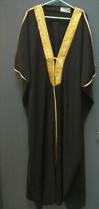 Gorgeous Bisht in Black or Brown with Golden Detailing - Kiswah Cloak Arab Dress