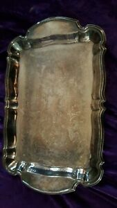ONEIDA Silverplated Party Bon Bon Dessert Serving TRAY - 14 inches x 9 Inches OL