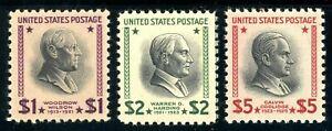 USAstamps Unused VF US $1-5 Hight Value Presidential Set Scott 832-834 OG MNH