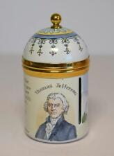Crummles English Enamels Thomas Jefferson Declaration of Independence Stamp Box