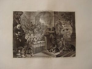 Paul Before Felix Engraved By William Hogarth, Published IN 1751