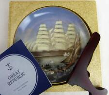 "Great Clipper Ships Great Republc Plate Franklin Porcelain 9"" Orig Box Pearce fr"