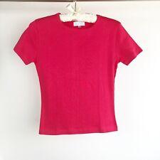Unisex Toddler Kids Size Medium Red Cotton Tee T-Shirt Plain Crew Neck