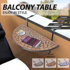 vidaXL Mosaic Balcony Table Hanging Semi-circular Drink Holder Multi Colours