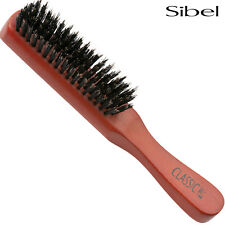 Sibel Classic 48 Flat Wooden Hair Brush - 100% Professional Boar Bristle&Stubby