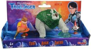 Simba Troll Hunter Set of 3 Figures with Toby, Argh and Gnome