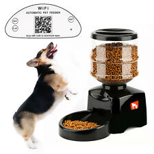 New 5L Automatic Pet Feeder Wi-Fi Control Food Bowl Dish Dispenser for Dog Cat