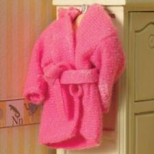 Casa de muñecas en miniatura escala 1:12th Pink Esponjoso Bata
