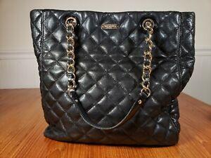 Kate Spade Gold Coast Sierra Shoulder Shopper Tote Bag w/Quilted Leather Black