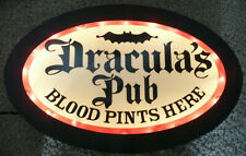 Vtg Dracula'S Pub Wall Bar Light Blood Pints Here Cool Man Cave Halloween