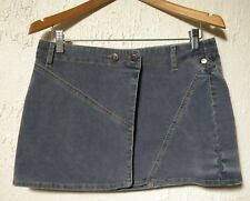 Tommy Hilfiger Juniors Size 7 Blue Corduroy Wrap Skirt