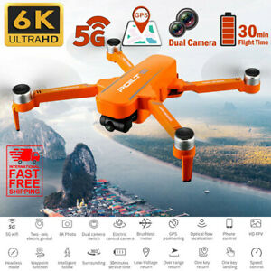 6K HD Dual Camera GPS 5G WIFI FPV RC 30min Quadcopter Drone RTF Return Home