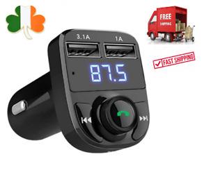 Fm Transmitter Bluetooth Handsfree Car MP3 Music Player Car Kit 3.1A USB Charger
