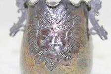 Antique Reed & Barton Cigarette Holder Venetian Pattern Silver Plate #214 Dragon