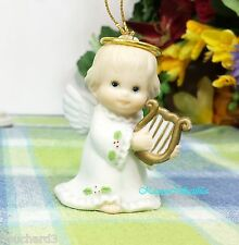 Enesco Morehead Angel with Harp ornament 1986 Porcelain angel