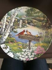 Collector Plate Firdt Issue In Natures Garden ''Springtime Friend'' No 3907A